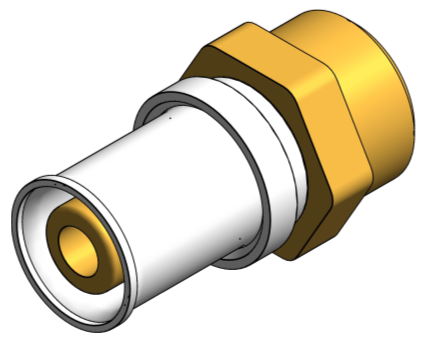 BIM, Content, Object, Component, bimstore, Autodesk, Revit, library, MEP, System, Nominal Diameter, Polypipe, PolySure, Brass, Compression, Adaptor