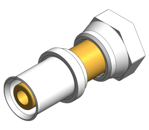 Product: PolySure - Brass - Straight Tap Connector
