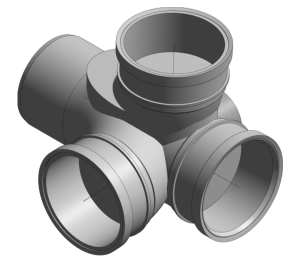 Product: Ring Seal Soil - Corner Branch Triple Socket