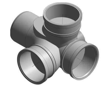 BIM, Content, Object, Component, bimstore, Autodesk, Revit, library, MEP, System, Nominal Diameter, Polypipe, PVCu, 110, Ring, Seal, Soil, Corner, Branch, Triple, Socket, RCB104