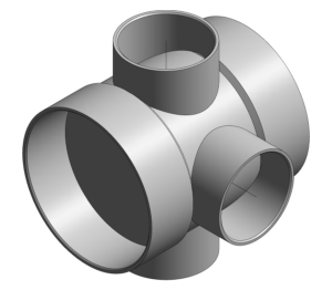 Product: Ring Seal Soil - Short 3 Way Boss Pipe