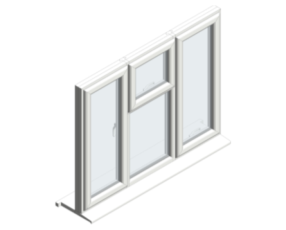 Profile 22 Optima window in an iso view