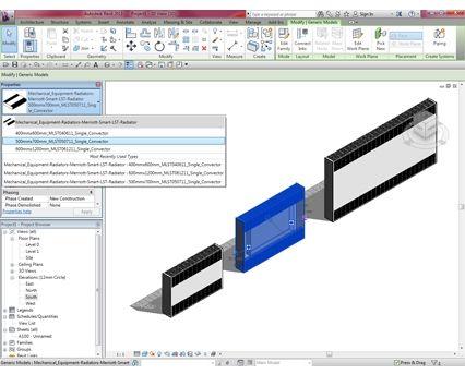 Revit, BIM, Download, Free, Components, object, objects, QRL, radiator, heating, mechanical, Designer, range, equipment, radiators, LST