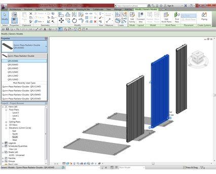 Revit, BIM, Download, Free, Components, object, objects, QRL, radiator, heating, mechanical, Designer, range, equipment, radiators, Plaza