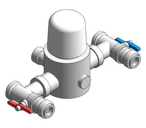 Product: Heatguard Planar Thermostatic Mixing Valve
