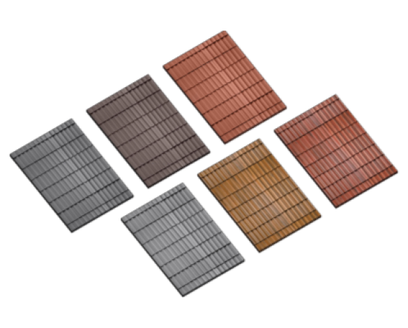 Revit, BIM, Download, Free, Components, object, Russell, Roof, Tiles, Double, Roman, Smooth, Streaky