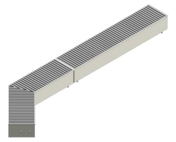 Revit, BIM, Mechanical, Sill, Line, Convector, Warm, Line, Natural, Trench, Heating, Dash, 01, 02, 03, 04, 05, 06