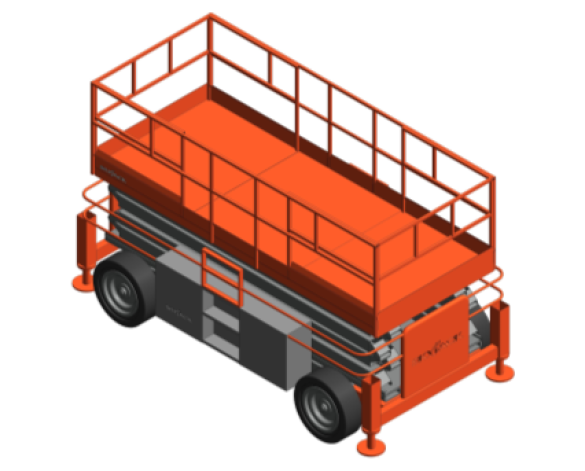 Revit, BIM, Download, Free, Components, Object, Speedy, Hire, Services, Site, Building, Equipment, 14, SKYJACK, Access, Platform, SJ9241, SJ9250RT, Rough, Terrain