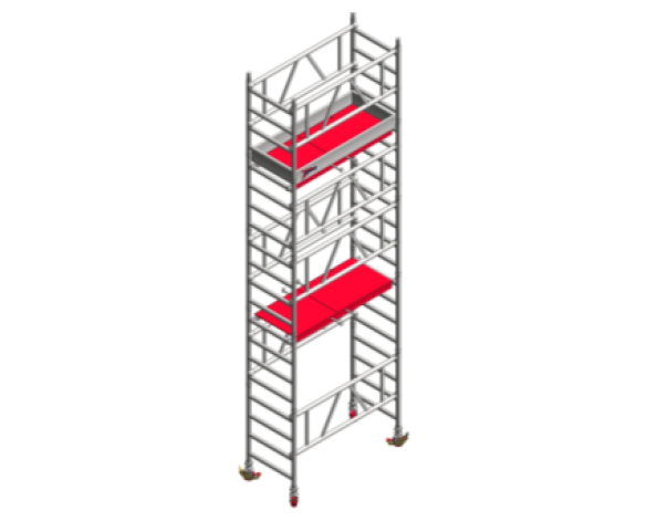 Revit, BIM, Download, Free, Components, Object, Speedy, Hire, Services, Site, Building, Equipment, Aluminium, Tower, Mi, Tower, Plus, 4m, PH