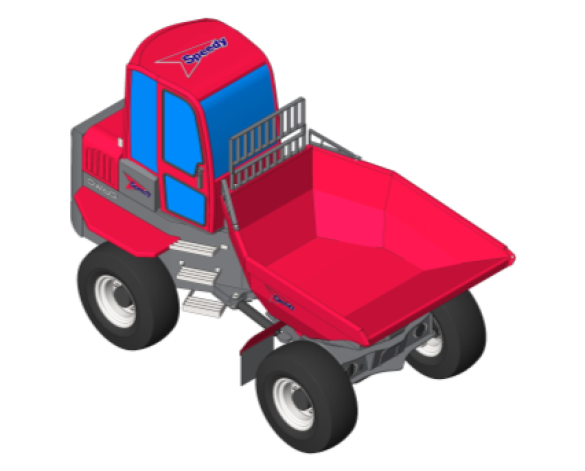 Revit, BIM, Download, Free, Components, Object, Speedy, Hire, Services, Site, Building, Equipment, 14, Wacker, Neuson, 6, Tonne, Swivel, Dumper, Truck