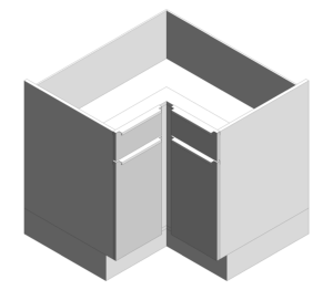 Product: Drawer Line One Piece L Corner Cabinets