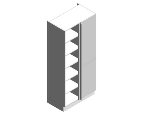 Revit, BIM, Download, Free, Components, object, objects, Symphony, Kitchens, Cabinets, Units, Casework, Tall, Corner, Larder, Cabinets