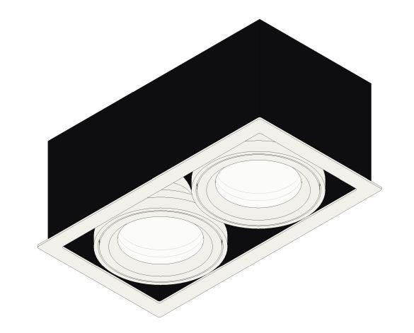 Product: Quattro Square LED Downlight