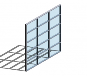Product: Technal MX 62 Curtain Walling