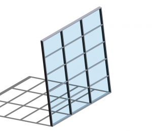 Product: Technal MX Sloped Curtain Walling
