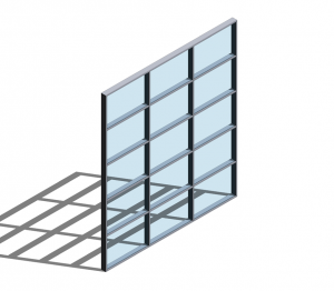 Product: Technal MX Visible Grid Curtain Walling