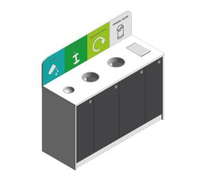 Product: 4 Waste Stream Recycling Station