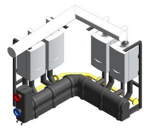Product: ecoTEC Commercial Corner Cascading Boiler Rig