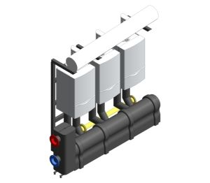 Product: ecoTEC Commercial In-Line Cascading Boiler Rig