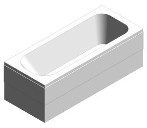 Product: Optima 170x70 cm Rectangular Bathtub - 5082001000