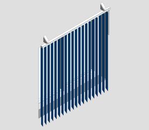 Product: YewdaleDefiant VL60 (Bead-chain) & VL64 (Crank) Mono Control Vertical Blind