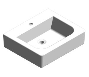 Product: Concept Square 550mm Wall Hung Wash Basin - CCASF550-1010410F0