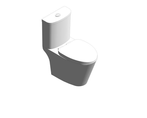 bimstore 3D image of the Compact Codie Close Coupled Toilet - CL24075-6DACTCB from American Standard