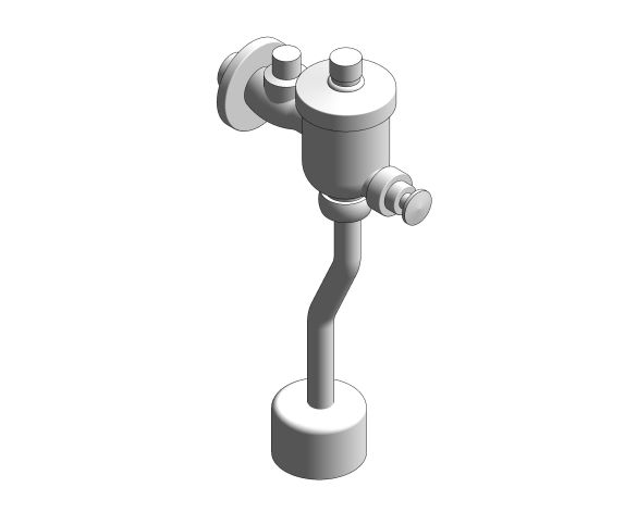 bimstore 3D image of the Exposed Urinal Flush Valve with volume adjustment - FFAS9802-009500BF0 from American Standard