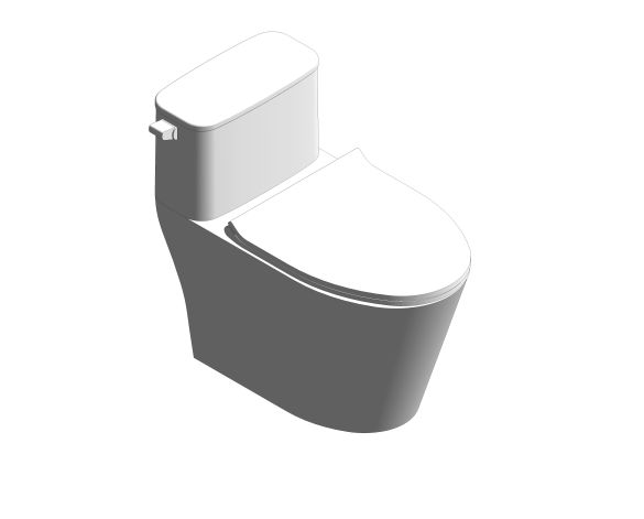 bimstore 3D image of the Signature One-Piece Toilet 4.8L - CCAS1882-111A410T0 from American Standard