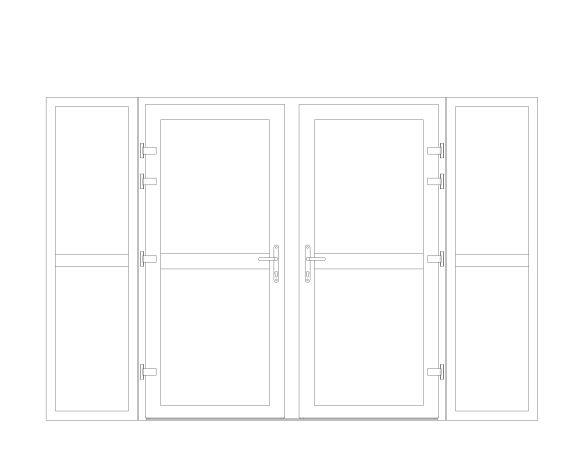 Product: XT66 Rebate - Double Door With Side Window Midrail