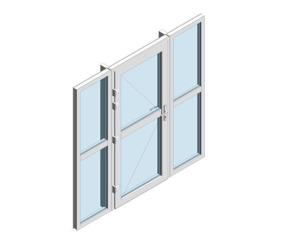 Product: XT66 Rebate - Single Door With Side Window Midrail