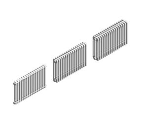 Product: roma horizontal steel column radiator