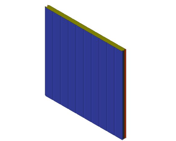 bimstore 3D image of Assan Panels - 1000 WDT External Screw Wall Panel