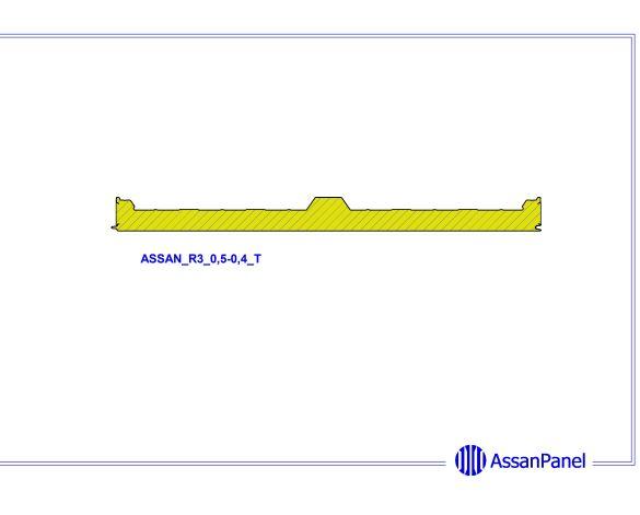 bimstore side image of Assan Panels - 3 Roof Panel