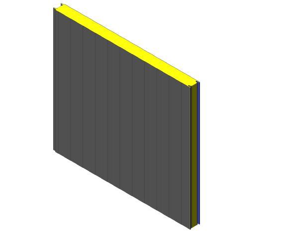 bimstore 3D image of Assan Panels - CS Cold Storage Panel