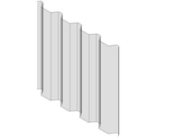 bimstore 3D image of Assan Panels - G1000 Greca Polycarbonate Panel
