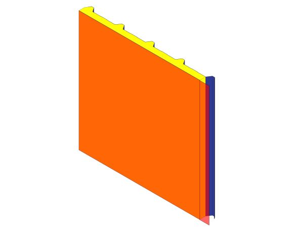 bimstore 3D image of Assan Panels - N5M Membrane Roof Panel