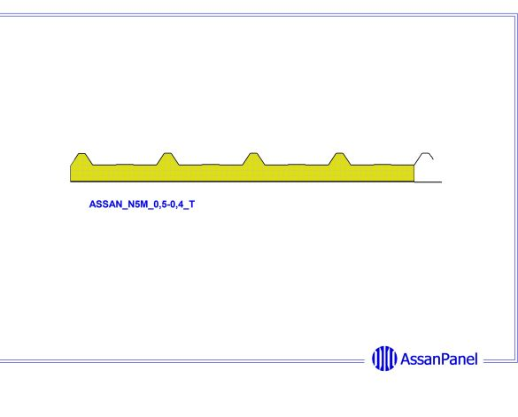 bimstore side image of Assan Panels - N5M Membrane Roof Panel