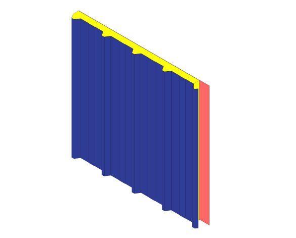 bimstore 3D image of Assan Panels - N5M Membrane Roof Panel