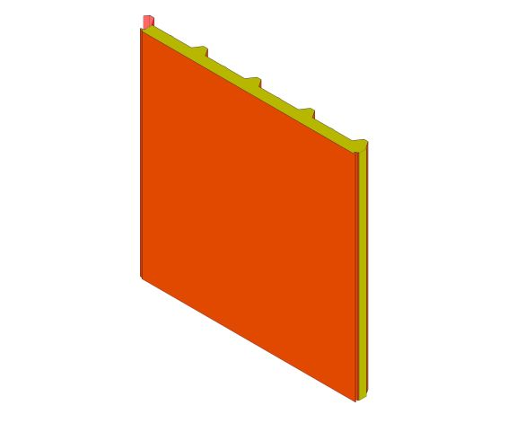 bimstore 3D image of Assan Panels - N5T Roof Panel