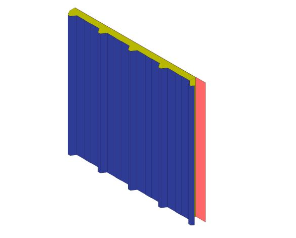 bimstore 3D image of Assan Panels - N5TM Membrane Roof Panel