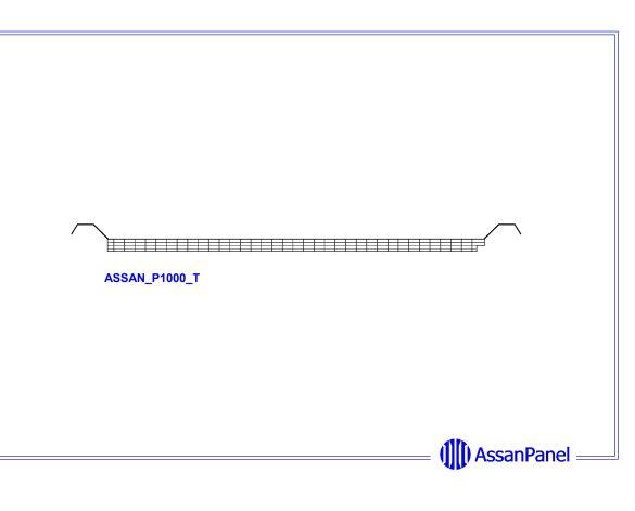 bimstore side image of Assan Panels - P1000 Plain Polycarbonate Panel