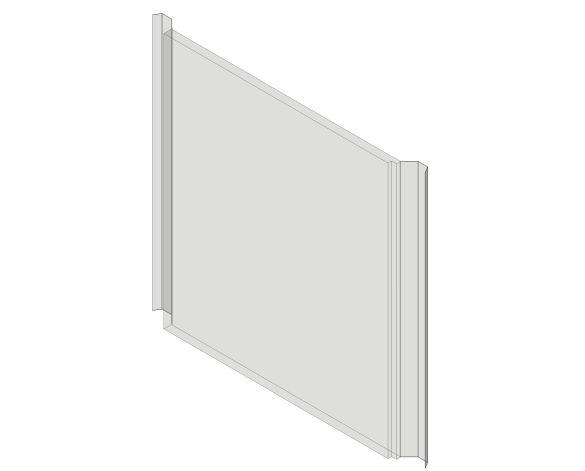 bimstore 3D image of Assan Panels - P1000 Plain Polycarbonate Panel