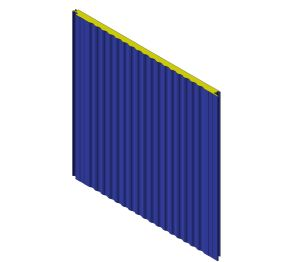 Product: W 40 Sinus Wall Panel