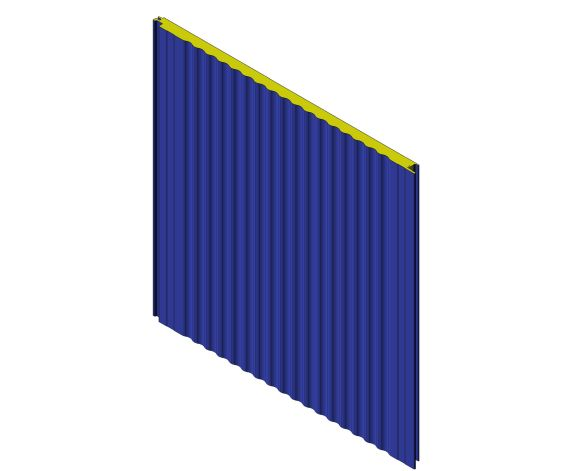 bimstore 3D image of Assan Panels - W 40 Sinus Wall Panel