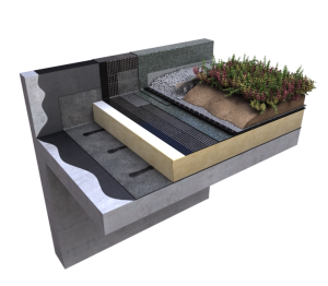 Product: Cityflor Warm Roof Living Roof System