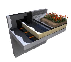 Product: Cityflor® Neo-Bitumen® Flame Free Warm Roof Living Roof System