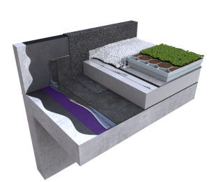Product: Wilotekt®-Plus Inverted Roof Hot Melt Structural Waterproofing Living Roof System