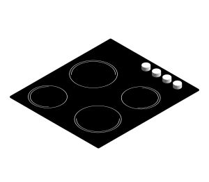 Product: neue 60cm Ceramic Hob Black - NHK64C