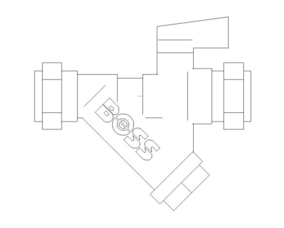 bimstore front image of BOSS Ball Valve - 282CF